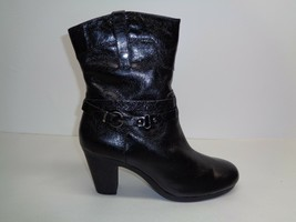 Aerosoles Size 11 M SERIAL PORT Leather Ankle Heels Boots New Womens Shoes - $59.35