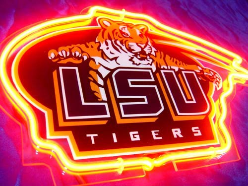 Primary image for NCAA LSU Tigers College Football Neon Light Sign 10'' x 8''