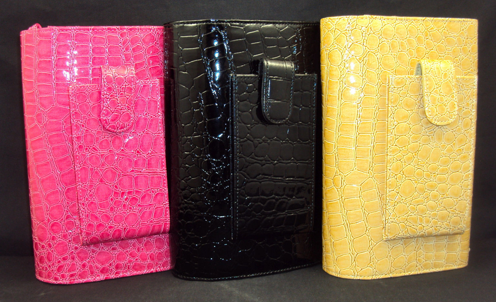 Primary image for Buxton Faux Croc Clutch Purse w/Strap & Checkbook Organizer ~ Choice of 3 Colors
