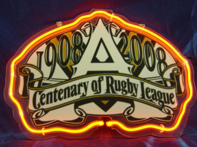 Primary image for NRL Centenary of Rugby League 1908 - 2008 Neon Light Sign 10'' x 8''