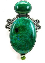 Mottled Blue Green Peruvian Chrysocolla + Malac... - $147.00