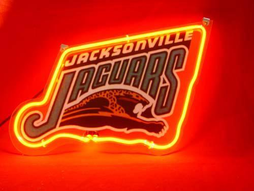Primary image for NFL Jacksonville Jaguars Football Neon Light Sign 10'' x 8''