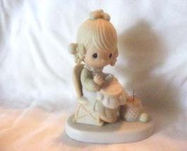 """Precious Moments Figurine """" Mother Sew Dear"""". E-3106 - $15.00"""