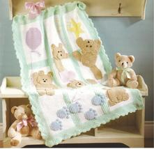 7 of the Best Baby Afghans Crochet Patterns~Bears~Ducky~Bubbles+ - $39.99