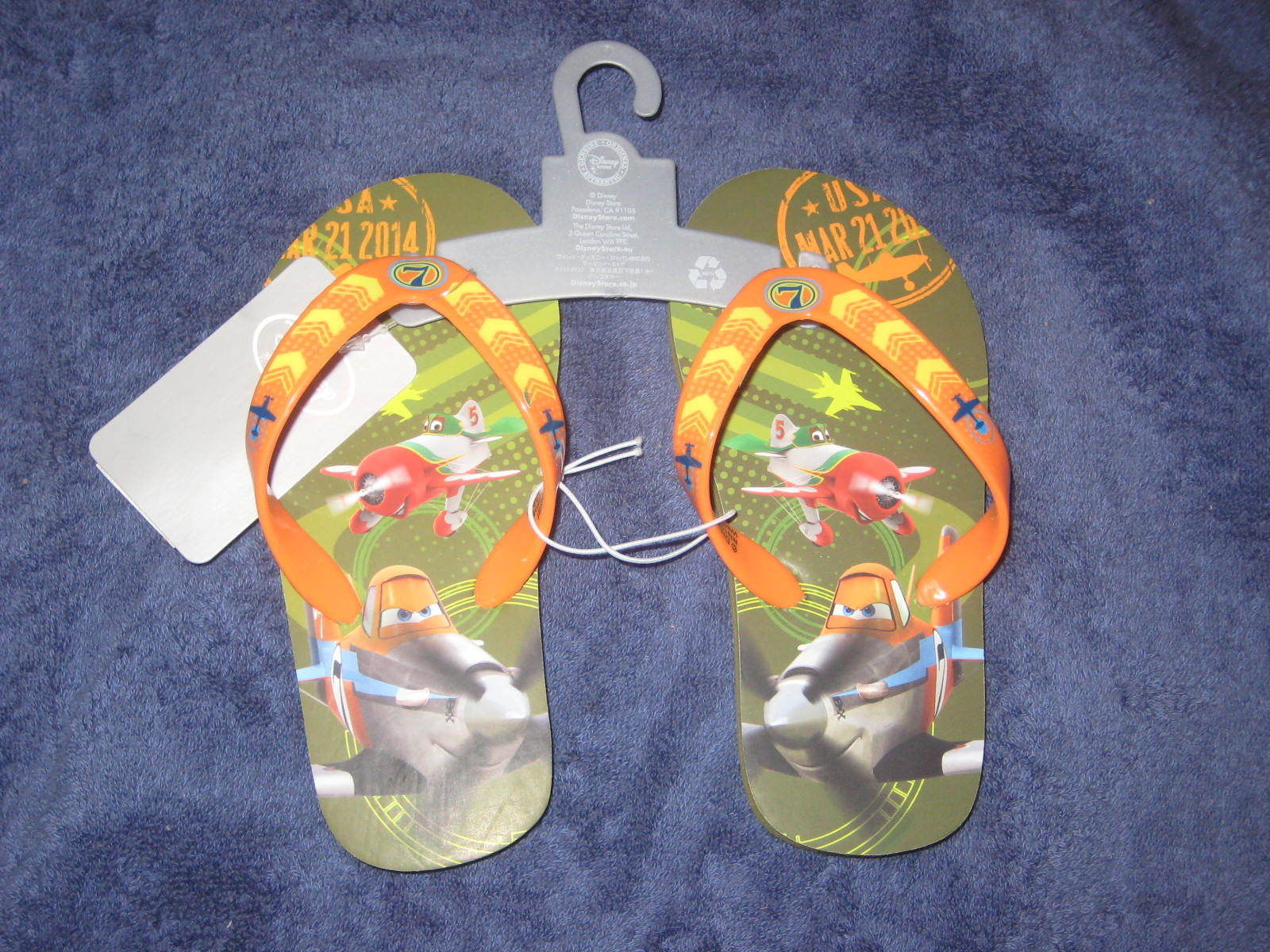 Primary image for Disney Store Planes Flip Flops Size 9/10. Brand New.