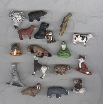17 Peruvian Porcelain Whimsical  Animal Beads Really Big Lot Craft - $18.99