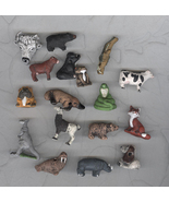 17 Peruvian Porcelain Whimsical  Animal Beads Really Big Lot Craft - $19.00