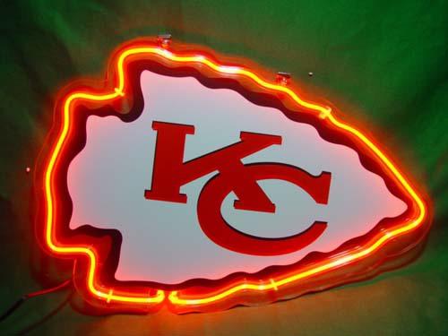 Nfl Kansas City Chiefs Neon Light Sign 10 X 8 Neon