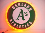Primary image for MLB Oakland Athletics Baseball Neon Light Sign 10'' x 10''