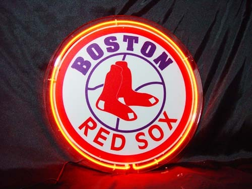 Primary image for MLB Boston Red Sox Baseball Neon Light Sign 10'' x 10''