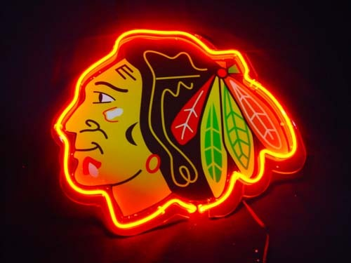 Primary image for NHL Chicago Blackhawks Football Neon Light Sign 10'' x 8''