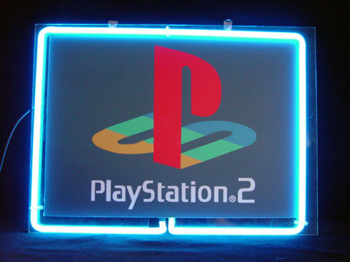 Primary image for Sony Playstation 2 PS2 Neon Light Sign 10'' x 8''
