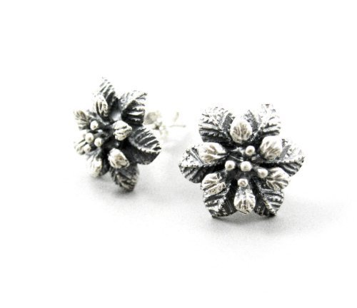 Primary image for Sterling Silver Textured Petal Flower Post Earrings [Apparel]