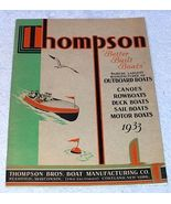 Thompson Boats 1933 Illustrated Sales Catalog Brochure - $39.95