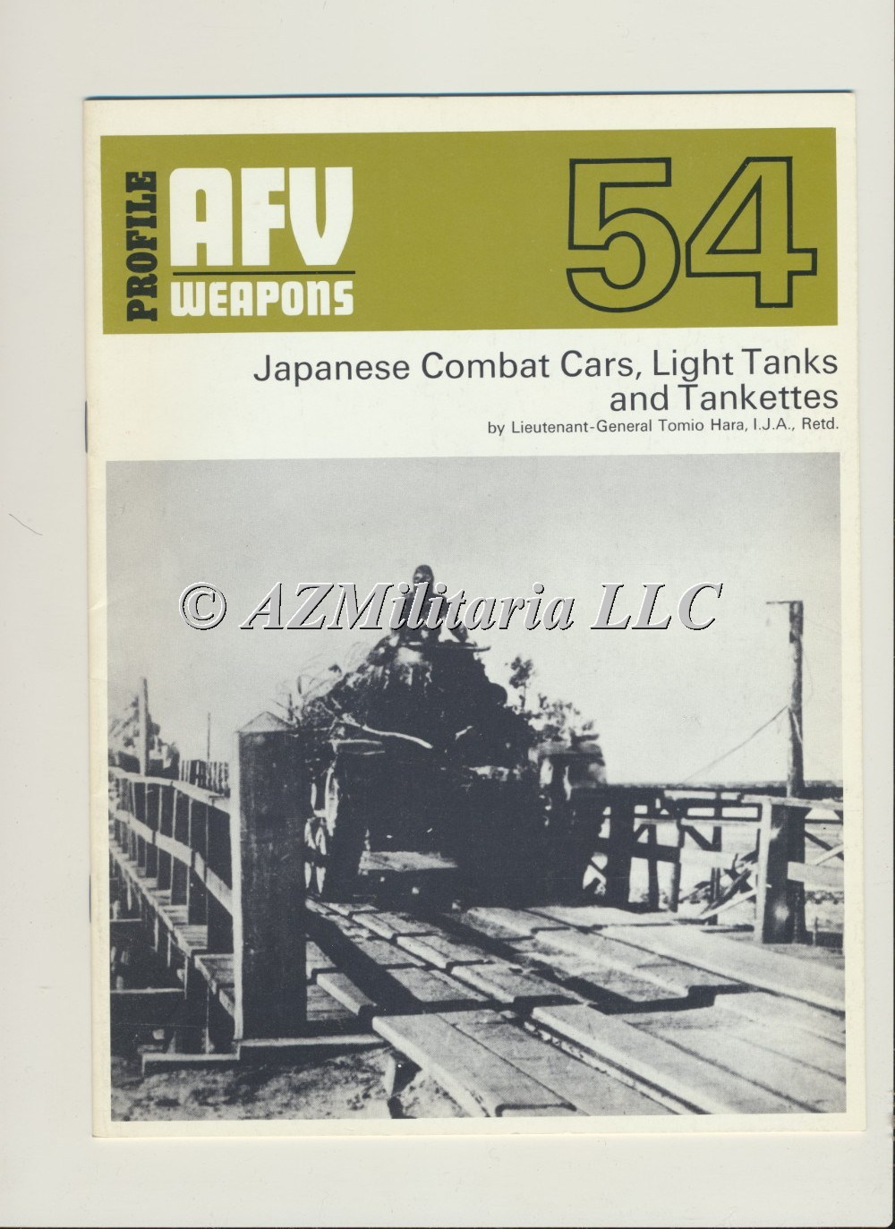 Primary image for AFV WEAPONS Profile Number 54: Japanese Combat Cars, Light tanks and Tankettes