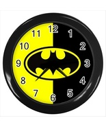 NEW BATMAN HERO LOGO Round Black Wall Clock Dec... - $20.95