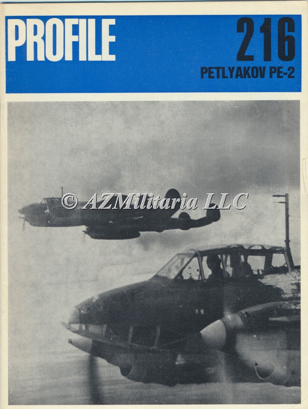 Primary image for Aircraft Profile Number 216: PETLYAKOV PE-2