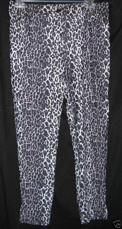 vintage Betsey Johnson leopard disco punk pants rockabilly car hop Pin-up VLV M