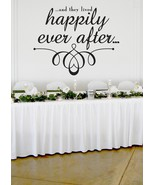 "Happily Ever After Wedding Wall Decor Vinyl Sticker Decal 22""h x 27""w - $29.99"