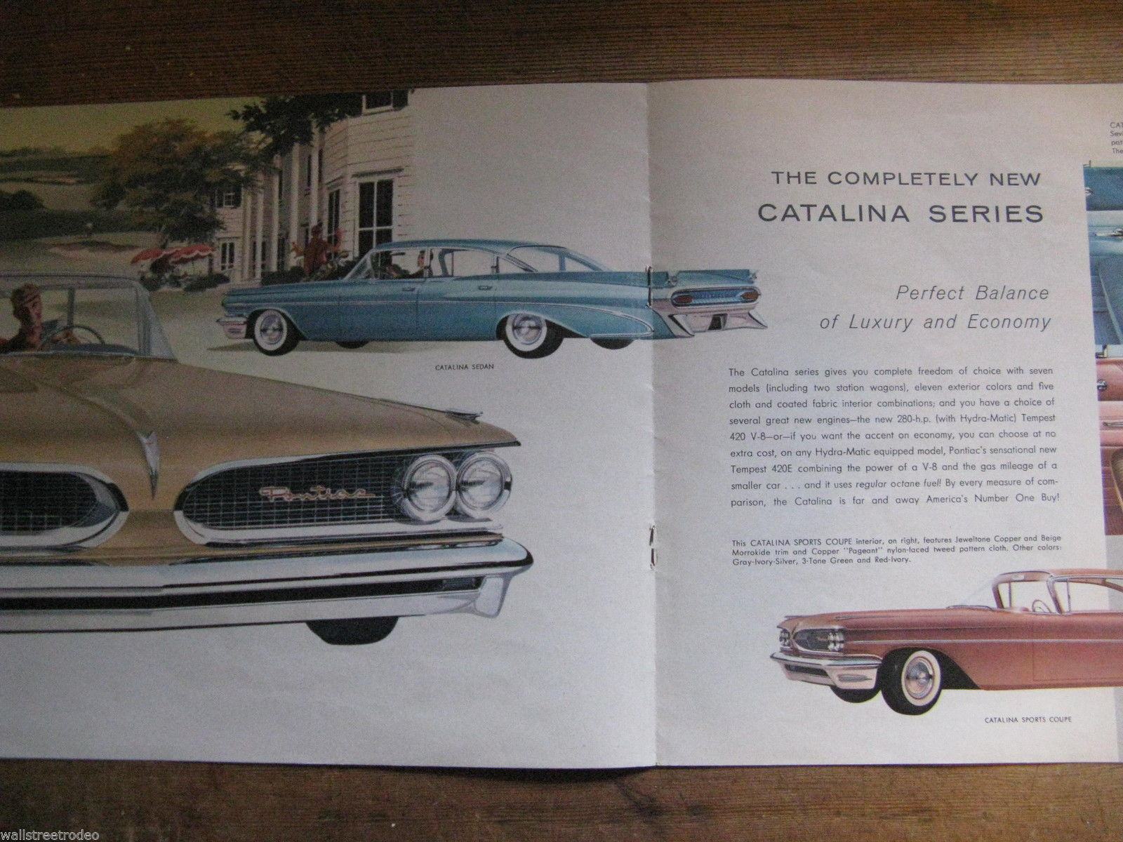1959 59 Pontiac Catalina Bonneville Star Chief Sales Brochure booklet flyer