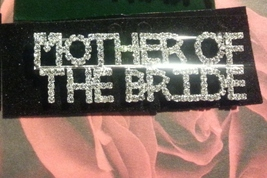 Crystal Silver Mother Of The Bride Pin Brooch Pin  - $17.99