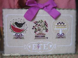 Ete (Summer) cross stitch chart Madame Chantilly - $11.70