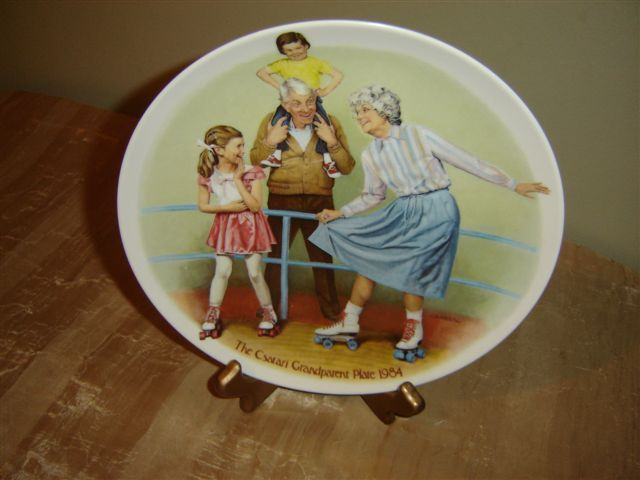 "Vintage Csatari ""The Skating Queen"" Collector Plate"