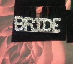 Crystal Silver Bride Pin Brooch Pin -   - $11.99