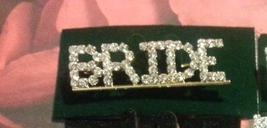 Crystal Gold Bride Pin Brooch Pin   - $11.99