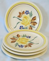 Red Wing Picardy Brown and Yellow Bread or Dessert Plate, set of 4 - $19.69