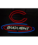 "Budweiser Bud Light NFL Chicago Bears Football Neon Sign 17"" x 13"""