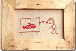 Love You cross stitch chart Madame Chantilly - $9.00