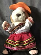 "Gemmy Hamster Mexican Spanish Dressed Girl Dress plush Doll 10"" Rare Gift! image 4"