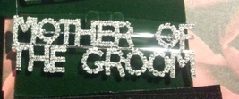 Crystal Silver Mother of The Groom Pin Brooch Pin   - $17.99