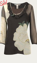 DIANE von FURSTENBERG CHICA BALADORAS ROSE BLOUSE TOP - US 12 - UK  16 - $97.78