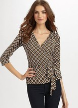 DIANE von FURSTENBERG BRITTANY  BLOUSE TOP - US 4 - UK  8 - $104.63