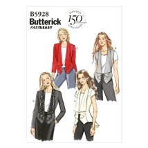 Butterick Patterns B5928 Misses' Vest and Jacket Sewing Template, Size A... - $14.70