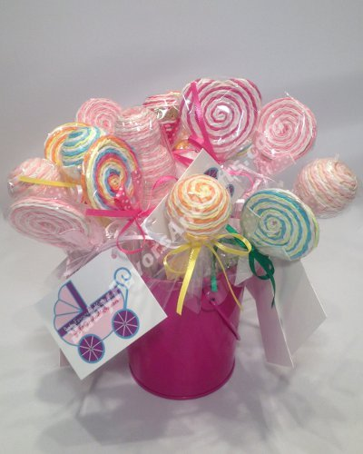Primary image for Lollipop Pens Shower Favors - Set of  10 in a bucket
