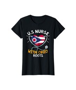 Funny Tee - US Nurse With Ohio Roots Heart Gift T-Shirt Wowen - $19.95+