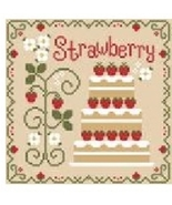 Strawberry Cottage Cakes Cotton Thread Pack cross stitch CCN - Classic C... - $12.60
