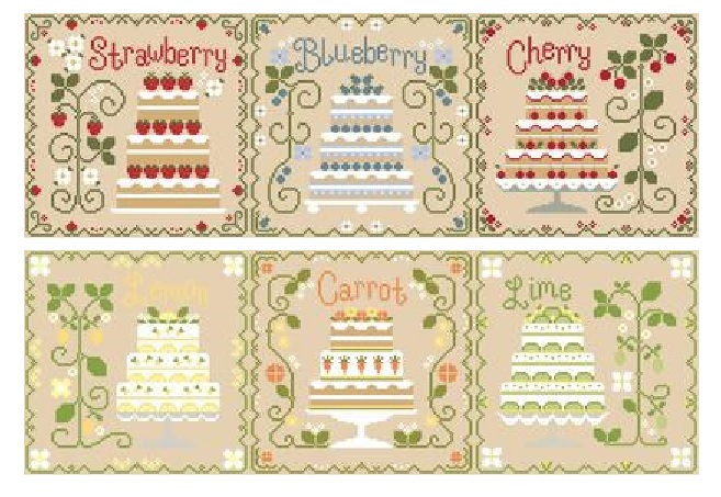 Primary image for FULL BUNDLE Cottage Cakes  (6 charts) Cotton Thread Packs CCN-Classic Colorworks