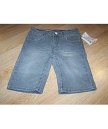 Girls Size 10 Regular Levi's Levi Strauss Graphite Gray Denim Bermuda Sh... - $18.00