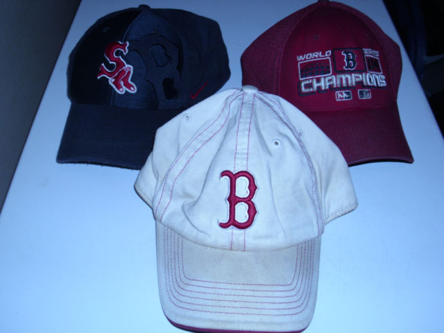 Primary image for 3 Vintage Boston Red Sox Baseball Hats / Caps World Series Champions Authentic