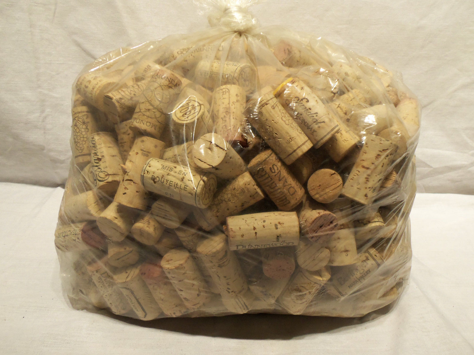Primary image for 4lbs Hand Sorted Printed Recycled Natural Wine Corks For Crafts FREE SHIPPING