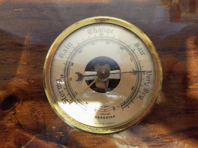 Primary image for Glossed Wood 3 Weather Station Barometer Hygrometer Thermometer Made in France