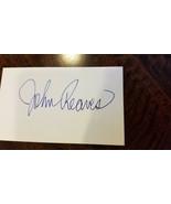JOHN REAVES SIGNED AUTO 3X5 INDEX CARD EAGLES BENGALS VIKINGS BUCS USFL ... - $16.99
