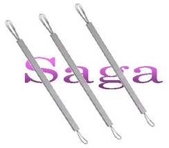 3X Acne Facial Pore Extractor Tool Blemish Blackhead Remover Loop Style ... - €17,78 EUR