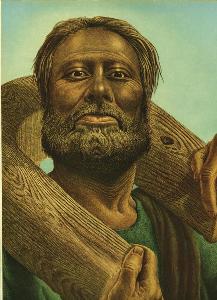 "Guy Rowe. ""Jeremiah"". Vintage 1949 Religious Biblical Lithograph Print. 9X12"
