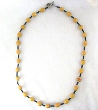 """Recycled Paper Beads Golden Tan Necklace 18""""   Uganda - $9.79"""