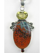Sonora Sunrise Jasper Oval with Lemon Topaz + G... - $141.12